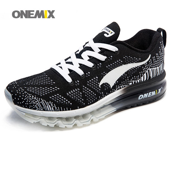 ONEMIX Black/White Music Rhythm Running Men's/Women's Shoes