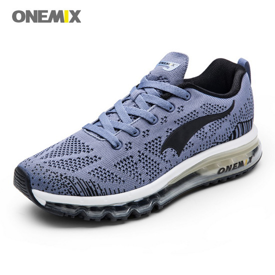 ONEMIX Gray Music Equalizer Running Breathable Men's Shoes