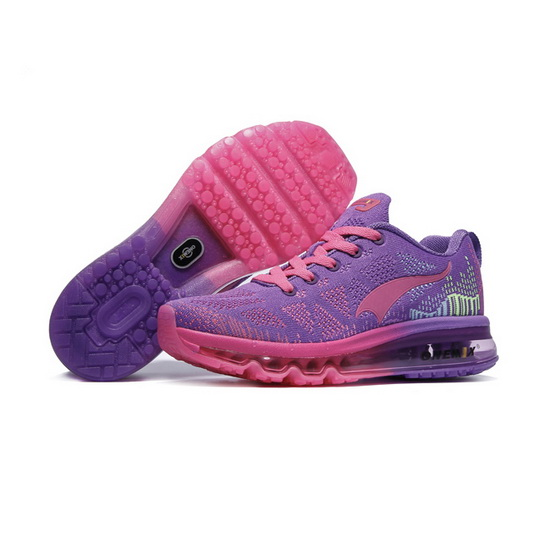 ONEMIX Purple/Peach Music Rhythm Athletic Women's Sneakers