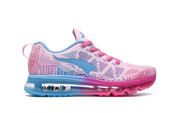 ONEMIX Pink/Blue Music Rhythm Lucky Running Women's Shoes
