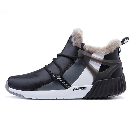 ONEMIX Black/Gray/White Mammoths Warm Trekking Men's Boots