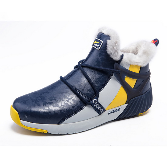 ONEMIX Blue/White/Yellow Mammoths Sport Travelling Men's Boots