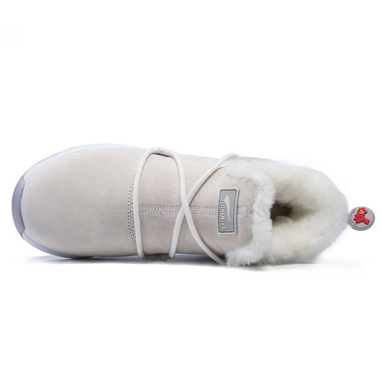 ONEMIX White/Gray Mammoths Ankle-High Fashion Women's Boots