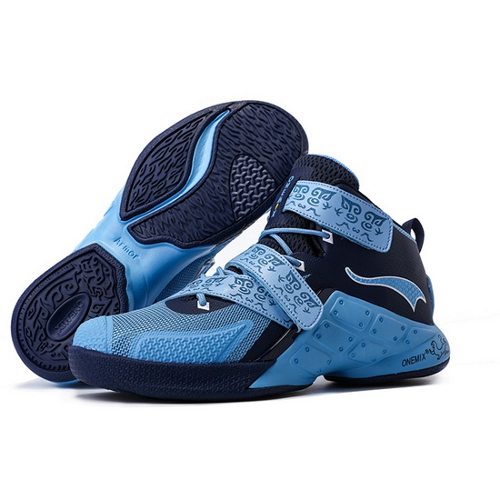 ONEMIX Blue/Navy Braves Cushioning Men's Basketball Shoes