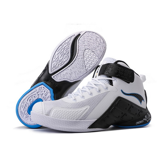 ONEMIX White/Black Braves Lightweight Men's Basketball Shoes