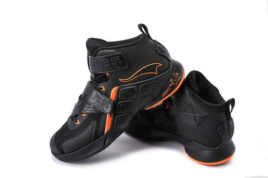 ONEMIX Black/Orange Braves Outdoor Men's Basketball Shoes