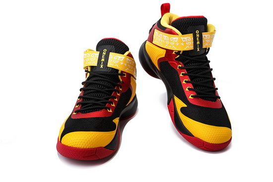 ONEMIX Red/Yellow/Black Braves Anti-skid Men's Basketball Shoes