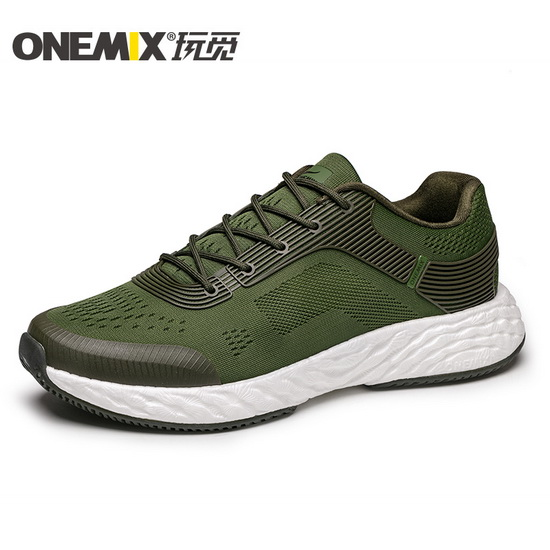 ONEMIX Army/White Energy 58 Unique Style Breathable Men's Shoes