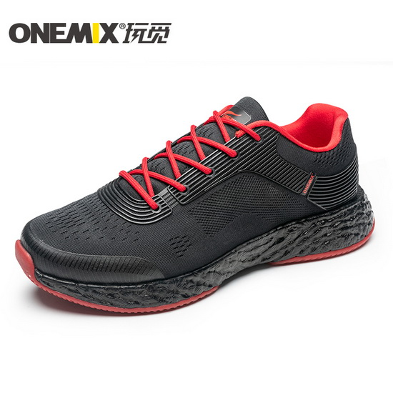ONEMIX Black/Red Energy 58 Travelling Mesh Men's Shoes