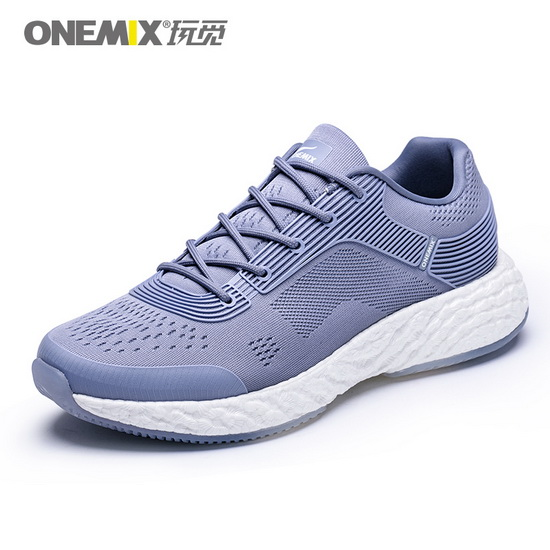 ONEMIX Gray Blue Energy 58 Fashion Athletic Men's Shoes