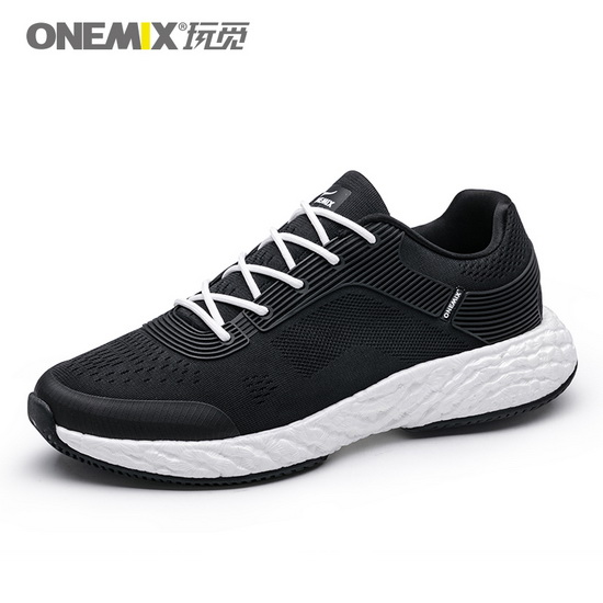 ONEMIX Black/White Energy 58 Athletic High-tech Unisex Shoes