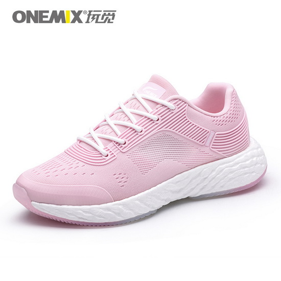 ONEMIX Pink/White Energy 58 Walking Running Women's Shoes