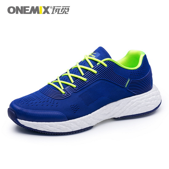 ONEMIX Blue/White Energy 58 Breathable Anti-skid Men's Shoes