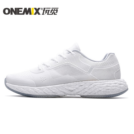ONEMIX White/White Energy 58 Mesh Trekking Unisex Shoes