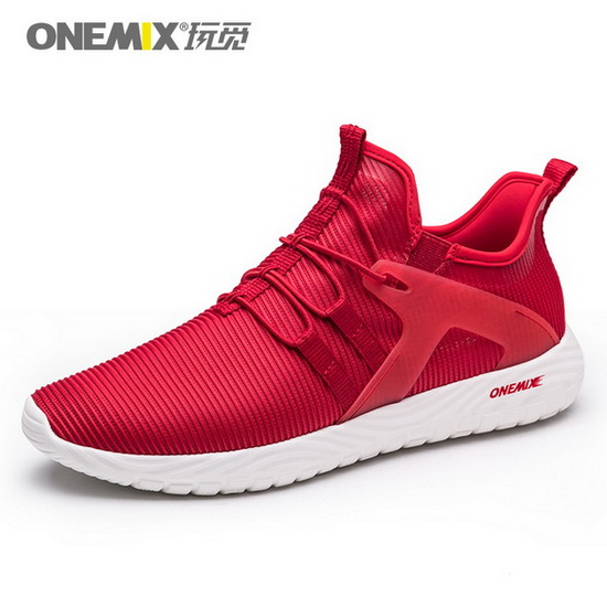 ONEMIX Gyrfalcon Red/White Athletic Lovers Men's/Women's Shoes