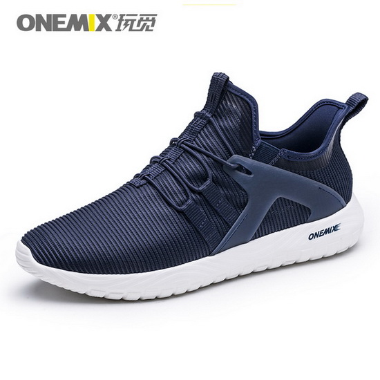 ONEMIX Gyrfalcon Dark Blue Trekking Unique Style Men's Shoes
