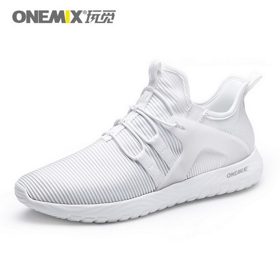 ONEMIX Gyrfalcon White/White Travelling Sport Men's/Women's Shoes