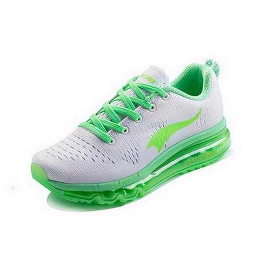 ONEMIX Wave-like White/Green Gym Sport Athletic Women's Shoes