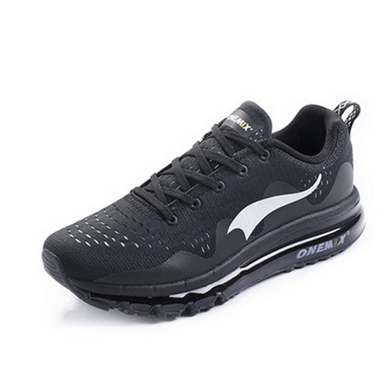 ONEMIX Wave-like Black/White Breathable Trekking Men's Shoes