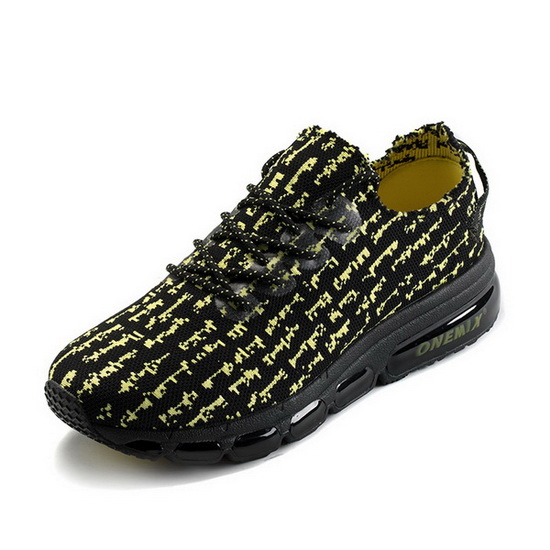 ONEMIX Leopard Black/Yellow Breathable Mesh Men's Shoes