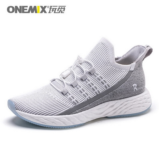 ONEMIX Wreck Raider Light Gray Lace Up Athletic Men's/Women's Shoes
