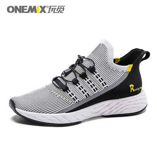 ONEMIX Wreck Raider Black/Yellow Walking Running Men's Shoes