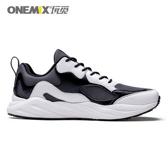 ONEMIX Sun Strider Black/White Lace Up Lifestyle Men's Shoes