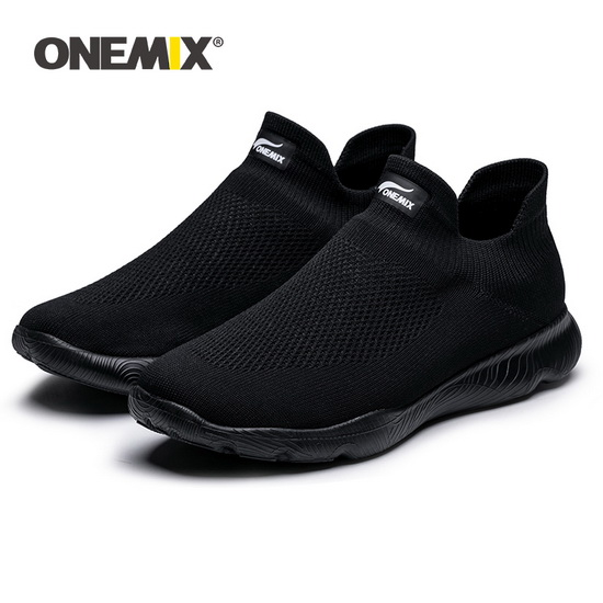 ONEMIX Zergling Black Breathable Trekking Men's Shoes