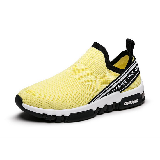 ONEMIX Void Ray Yellow Trainers Walking Men's Shoes