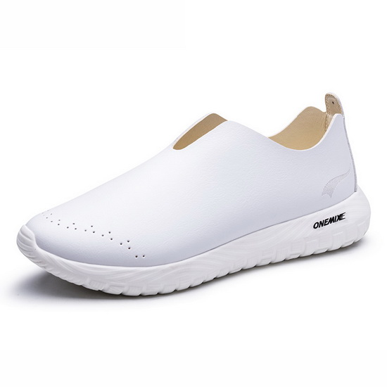 ONEMIX Hydralisk White Soft Leather Lifestyle Women's Shoes