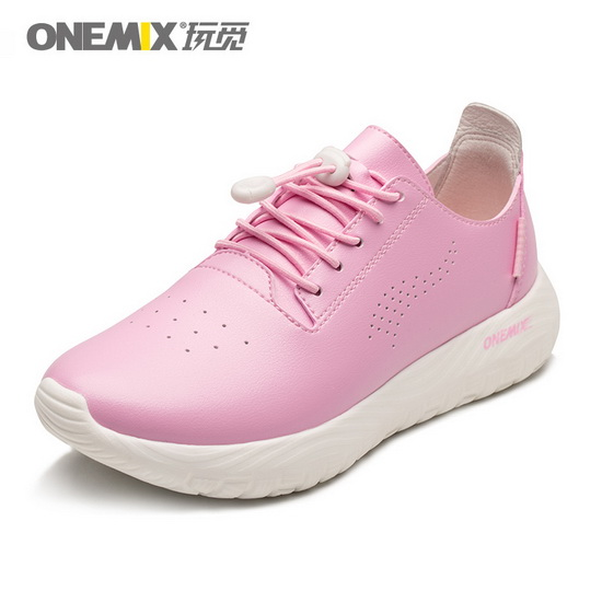 ONEMIX Hellion Pink Waterproof Soft Leather Women's Shoes