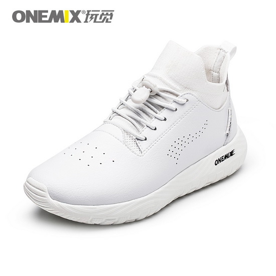 ONEMIX Banshee White Lifestyle Running Women's/Men's 3in1 Set Shoes