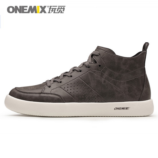 ONEMIX Corruptor Grey Lace Up Walking Men's High Top Shoes