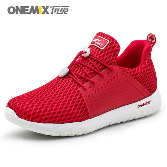 ONEMIX Swordfish Red Summer Breathable Men's Shoes