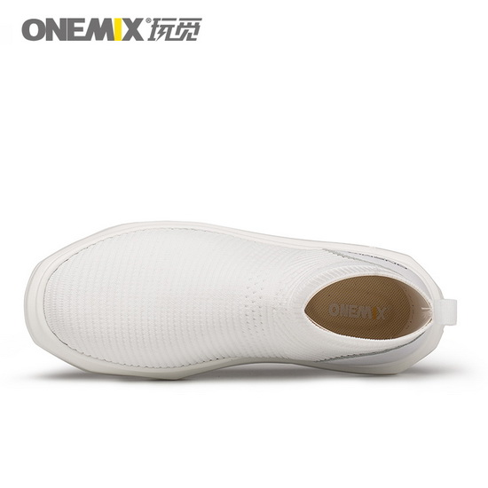 ONEMIX Giraffe White Lifestyle Trekking Women's/Men's High Top Shoes