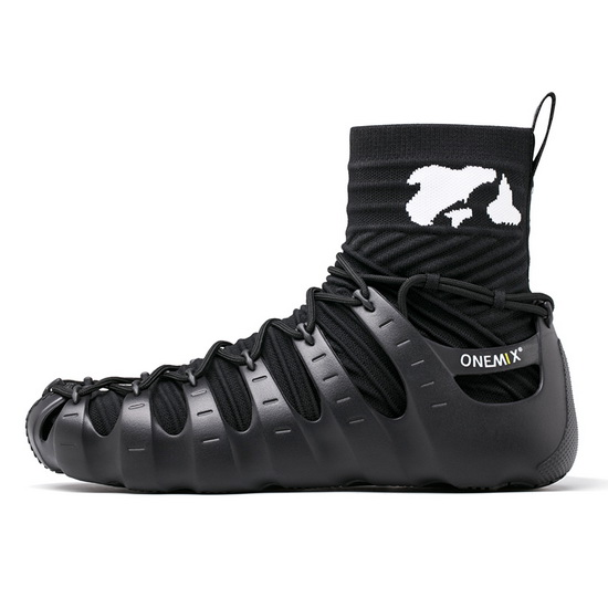 ONEMIX Rome Black Gym Sport Travelling Men's High Top Shoes