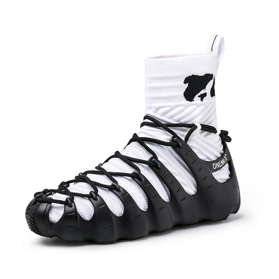 ONEMIX Rome Black/White Unique Style Sport Unisex High Top Shoes