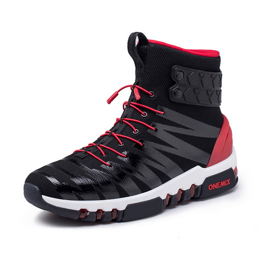 ONEMIX Monday Black/Red Lifestyle Cushioning Men's High Top Shoes
