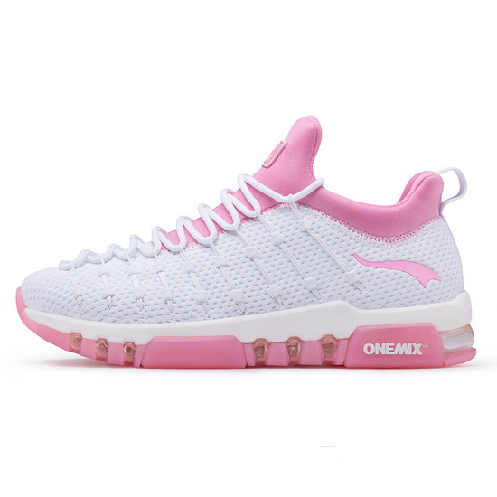 ONEMIX Wednesday White/Pink Breathable Unique Style Women's Shoes