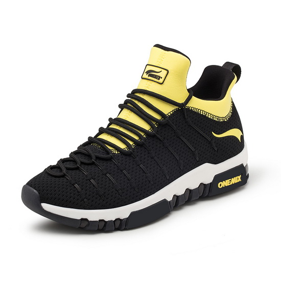 ONEMIX Wednesday Black/Yellow Sport Anti-skid Men's Shoes