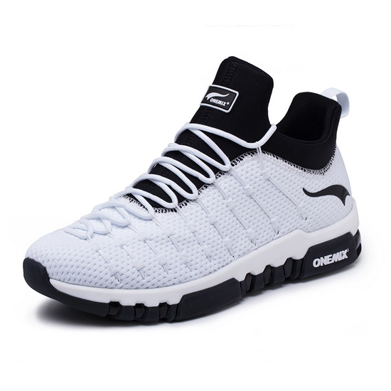 ONEMIX Wednesday White/Black Running Cushioning Men's/Women's Shoes