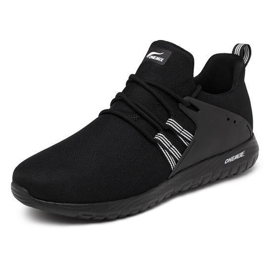 ONEMIX Thursday Black Comfortable Sport Women's/Men's Shoes - Click Image to Close