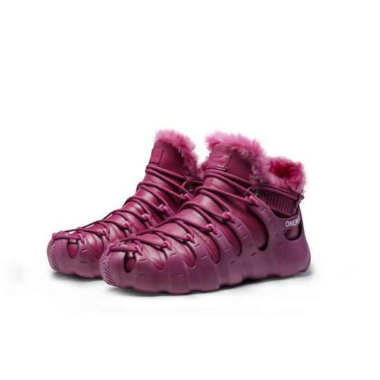ONEMIX Winter DarkMagenta Travelling Lifestyle Women's/Men's Shoes