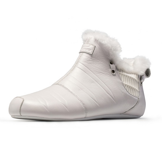 ONEMIX Indoor White Soft Leather Comfortable Unisex Shoes