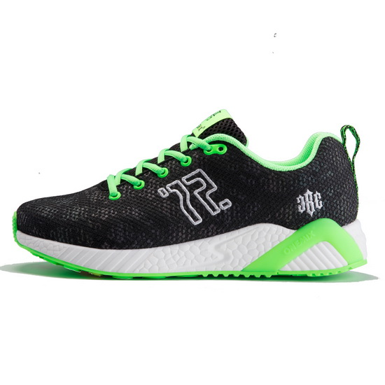 ONEMIX Weekend Black/Green Super Light Sport Women's/Men's Shoes