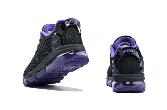 ONEMIX February Black/Violet Sport Lace Up Women's Shoes
