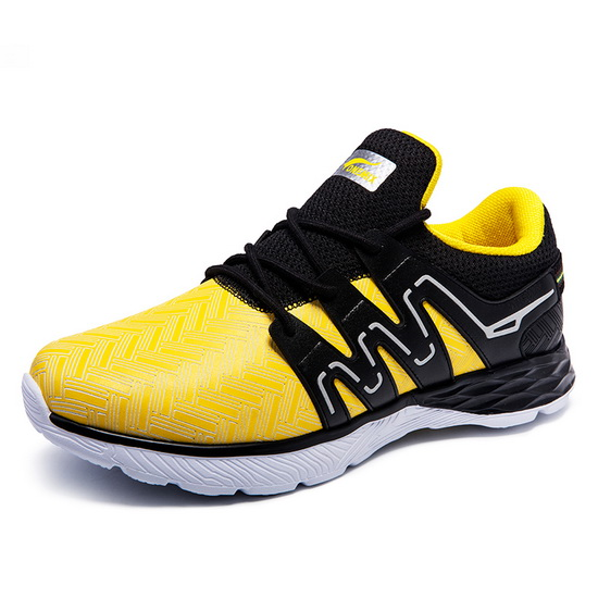 ONEMIX June Yellow/Black Soft Leather Outdoor Men's Shoes