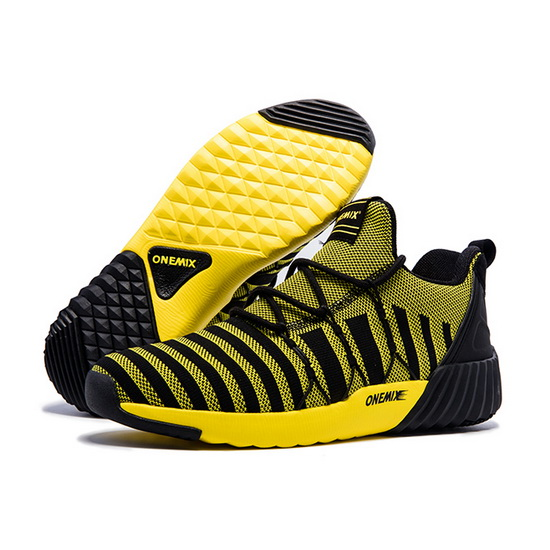 ONEMIX September Yellow/Black Anti-skid Gym Sport Men's Shoes