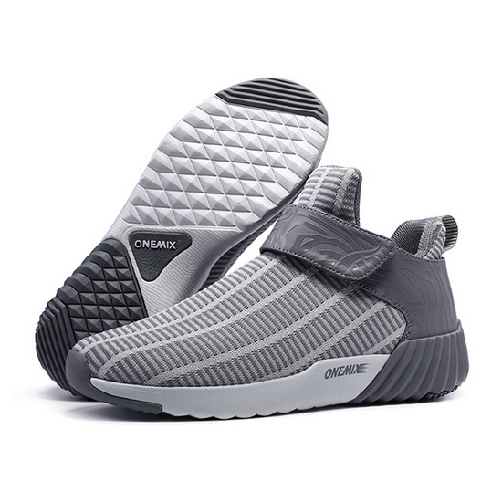 ONEMIX August Gray/White Lifestyle Lightweight Men's Shoes