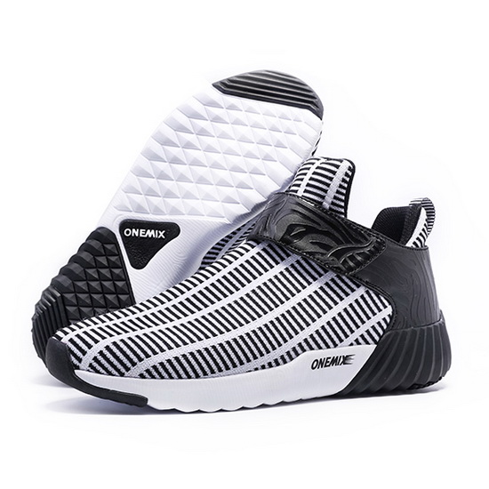 ONEMIX August White/Black Mesh Comfortable Men's Shoes